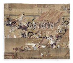 Japan: Buddhist Priest Fleece Blanket