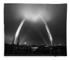 Jefferson Expansion Memorial Gateway Arch Fleece Blanket