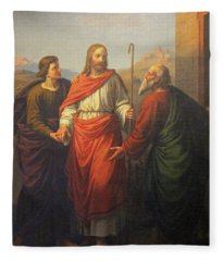 Jesus Visitation Fleece Blanket