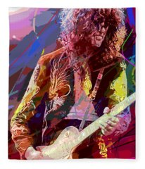 Jimmy Page Les Paul Gibson Fleece Blanket