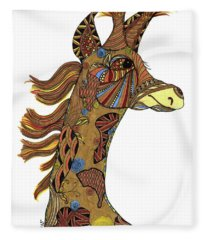 Josi Giraffe Fleece Blanket