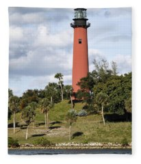 Jupiter Lighthouse Fleece Blanket