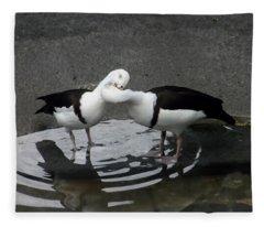 Kissing Ducks Fleece Blanket
