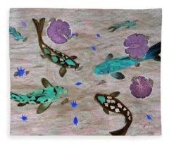 Koi Fish Feng Shui Fleece Blanket