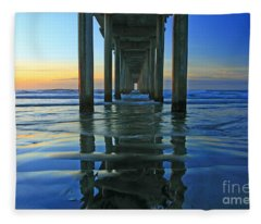La Jolla Blue  Fleece Blanket