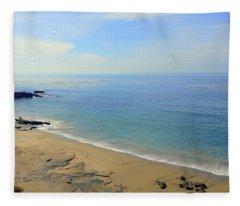 Laguna Beach California Fleece Blanket