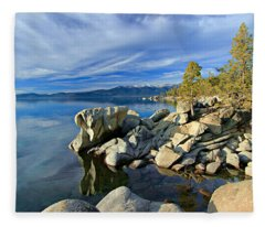 Lake Tahoe Rocks Fleece Blanket