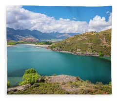 Lake Wanaka New Zealand IIi Fleece Blanket