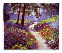 Lakeside Garden Fleece Blanket