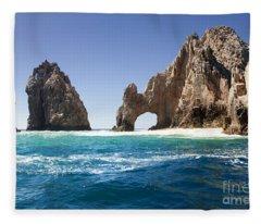 Lands End In Cabo San Lucas Mexico Fleece Blanket