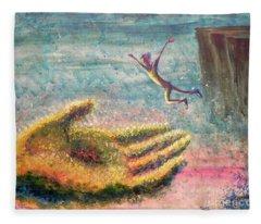 Leap Of Faith Fleece Blanket