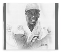 Ernie Banks Fleece Blanket