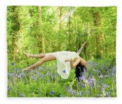 Levitation In Bluebells Fleece Blanket