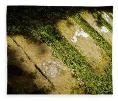 Light Footsteps In The Garden Fleece Blanket