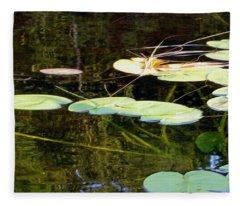 Lily Pads On The Lake Fleece Blanket