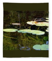 Lily Pads On The Lake Fleece Blanket