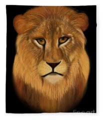 Lion - The King Of The Jungle Fleece Blanket