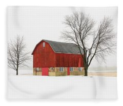 Little Red Barn Fleece Blanket