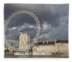 London Eye Fleece Blanket