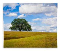 Lone Oak Fleece Blanket