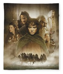 Lord Of The Rings The Fellowship Of The Ring 2001  Fleece Blanket