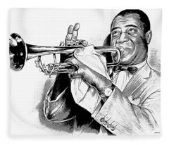 Louis Armstrong Fleece Blanket