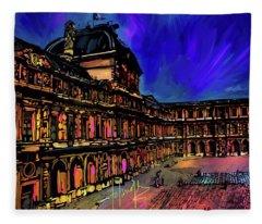 Louvre, Paris Fleece Blanket