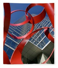 Low Angle View Of A Sculpture In Front Fleece Blanket