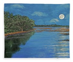 Lowcountry Moon Fleece Blanket
