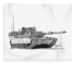 M1a1 Tank Fleece Blanket
