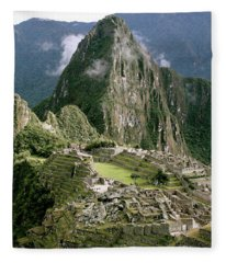 Machu Picchu At Sunrise Fleece Blanket