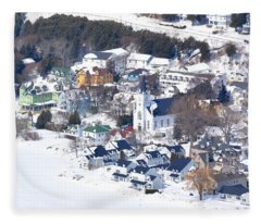 Mackinac Island Winter Fleece Blanket