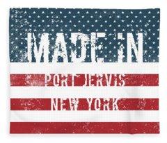 Made In Port Jervis, New York Fleece Blanket