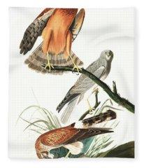 Marsh Hawk Fleece Blanket