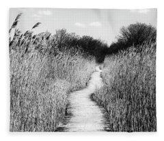 Marsh Loop Plum Island    Fleece Blanket