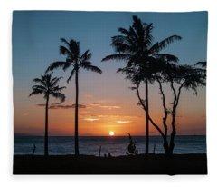 Maui Sunset Fleece Blanket