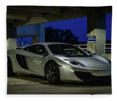 Mclaren Mp4-12c Three Quarter View Fleece Blanket
