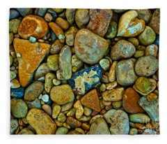 River Rocks Fleece Blanket