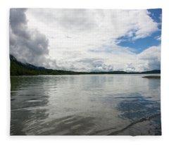 Mendenhall Lake Fleece Blanket