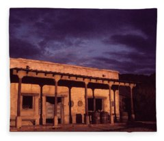 Mexican Cantina Rio Lobo Set Old Tucson Arizona 1970-1980 Fleece Blanket