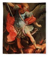 Michael Defeats Satan Fleece Blanket
