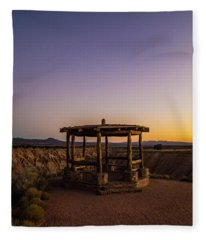 Cathedral Gorge Gazebo Fleece Blanket