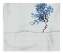 Mindfulness Tree Fleece Blanket