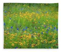 Mixed Wildflowers In Texas 538 Fleece Blanket