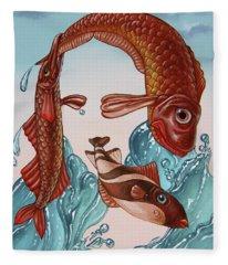 Mona Lisa. Water Fleece Blanket