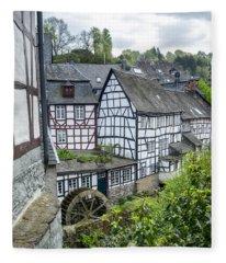 Monschau In Germany Fleece Blanket
