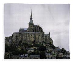 Mont St Michel Fleece Blanket