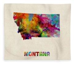 Montana State Fleece Blankets
