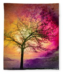 Morning Fire Fleece Blanket