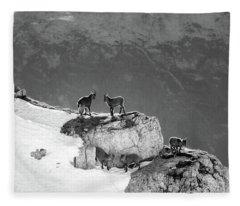 Mountain Goats Fleece Blanket